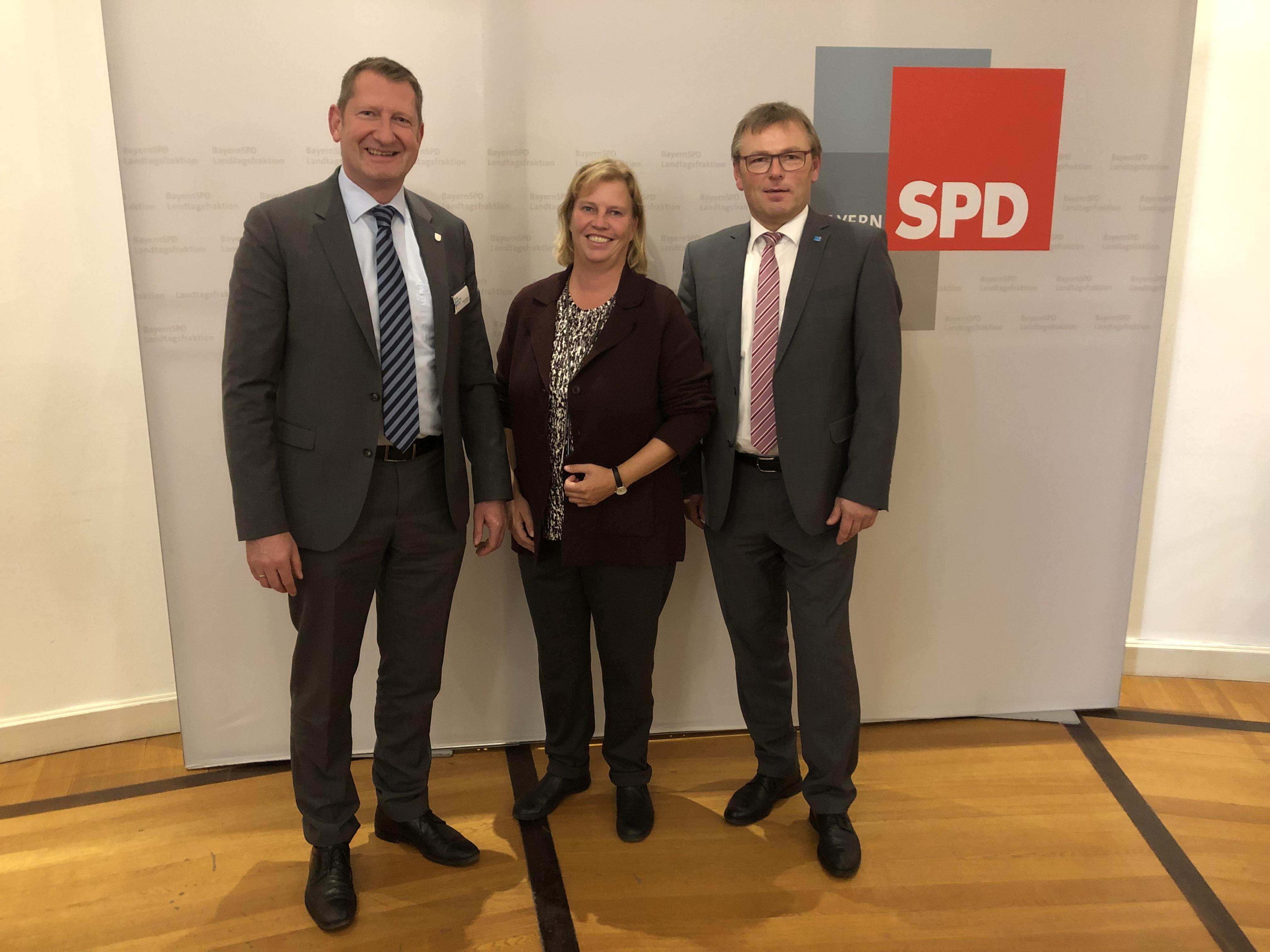 Teilnahme der KKB Vorstände Martin Rederer und Manfred Wendl an der Klausurtagung der SPD Landtagsfraktion im Bayerischen Landtag